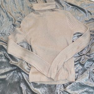 NEW american eagle outfitters cream turtleneck
